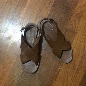 Never worn Madewell boardwalk sandal